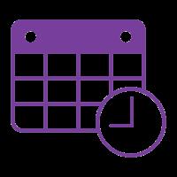 Horaires violet